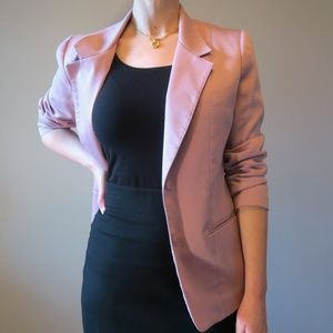 Vintage 70s Blush Pink Career Blazer Jacket Size 8